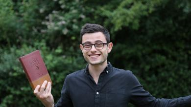 Tom's half way through Bible in a year!