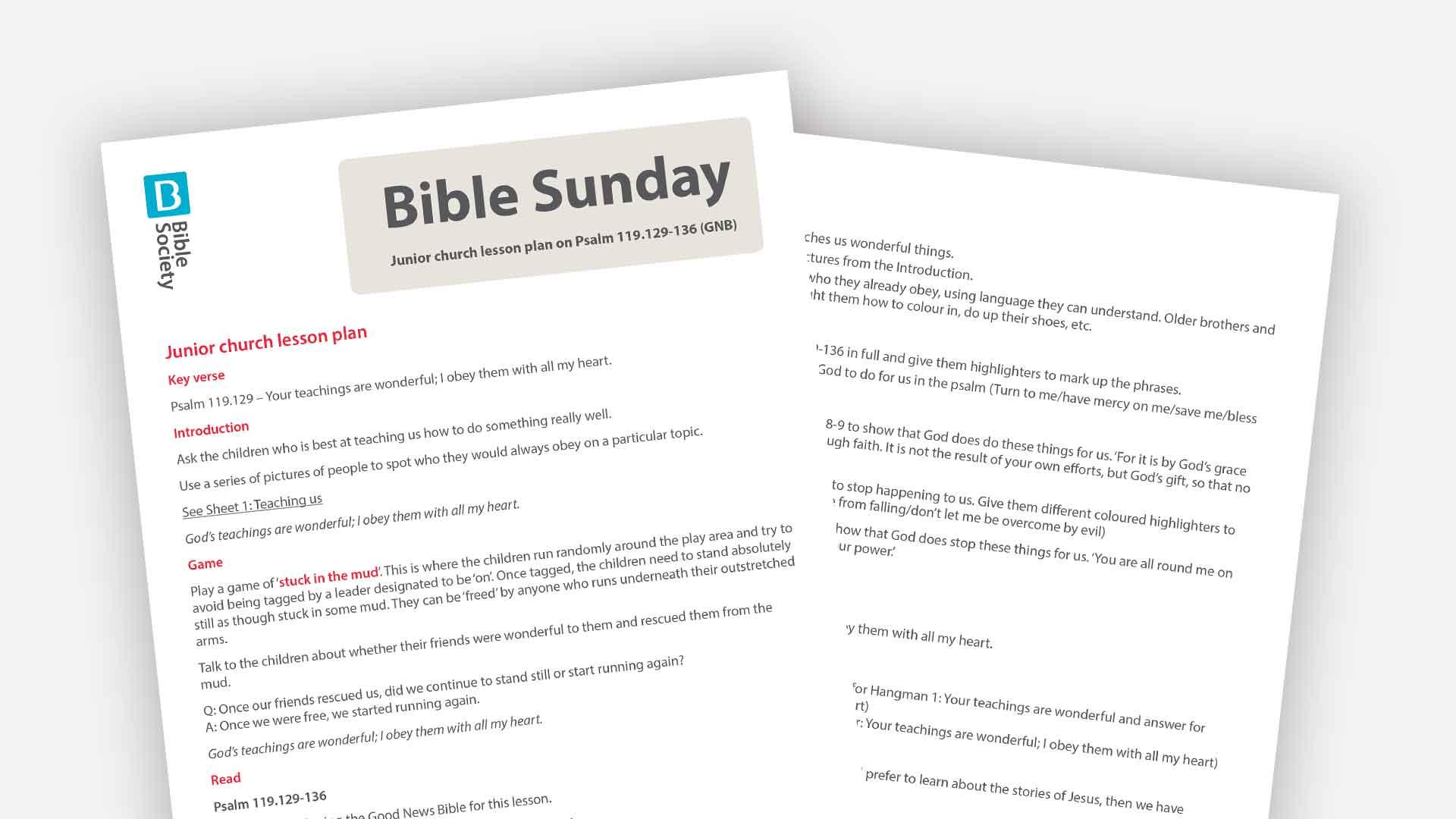 Bible Sunday 2019 - Bible Society