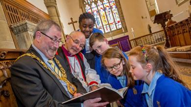 Historic Bible created by children from 140 schools