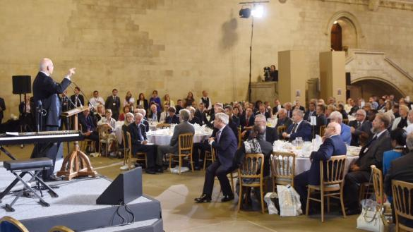 Theresa May joins 170 Peers and MPs at the National Parliamentary Prayer Breakfast)