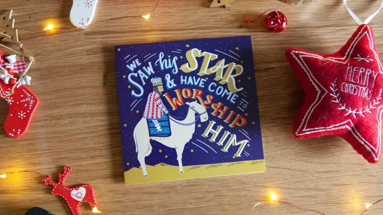 'We saw his star' design Christmas cards (pack of 10)