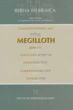 Hebrew Stuttgartensia 5th Edition Megilloth: Ruth, Canticles, Qoheleth, Lamentations and Esther