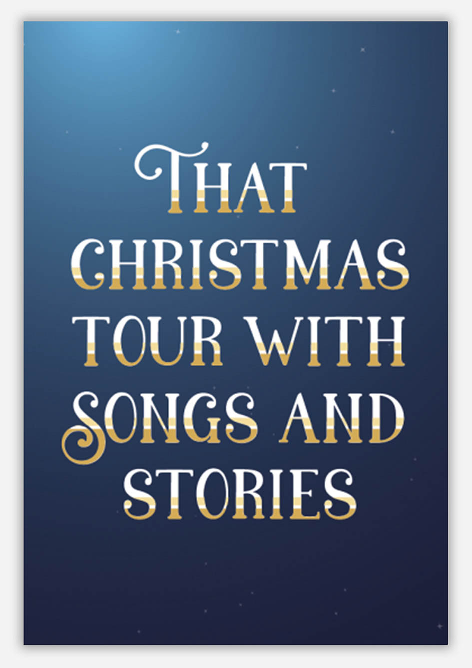 That Christmas tour with songs and stories - Caerphilly Golf Club