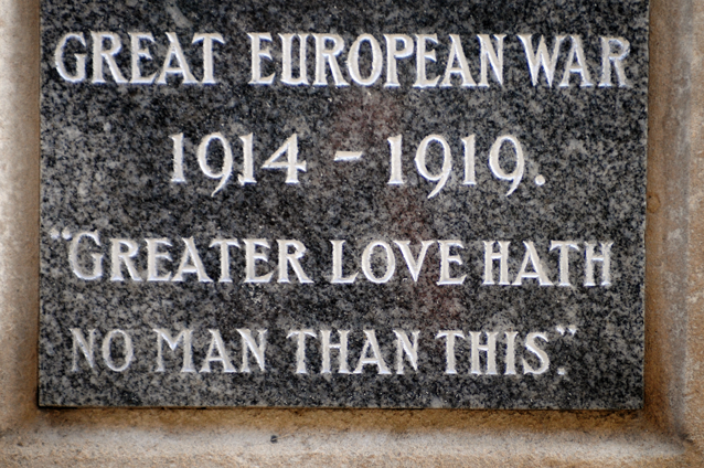 'Greater love hath no man than this'